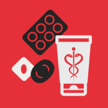 Piktogramm Pharma und Kosmetik